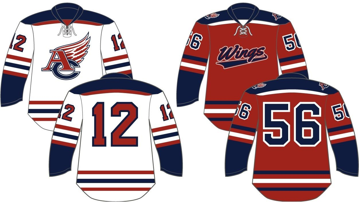 Check Out These Sick Designs For The Wings With Armstrong Cooper Girls Hs Customdesign Customjersey Jersey Design Sick Designs Custom Jerseys