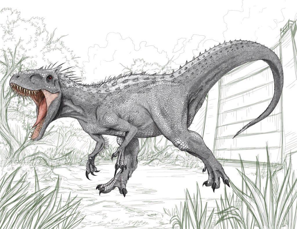 Jurassic World Indominus Rex Concept Art Hayvan