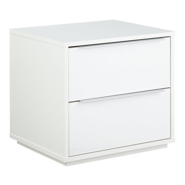 Buy Argos Home Holsted Gloss 2 Drawer Bedside Table White Bedside Tables Argos Argos Home White Bedside Table Bedside
