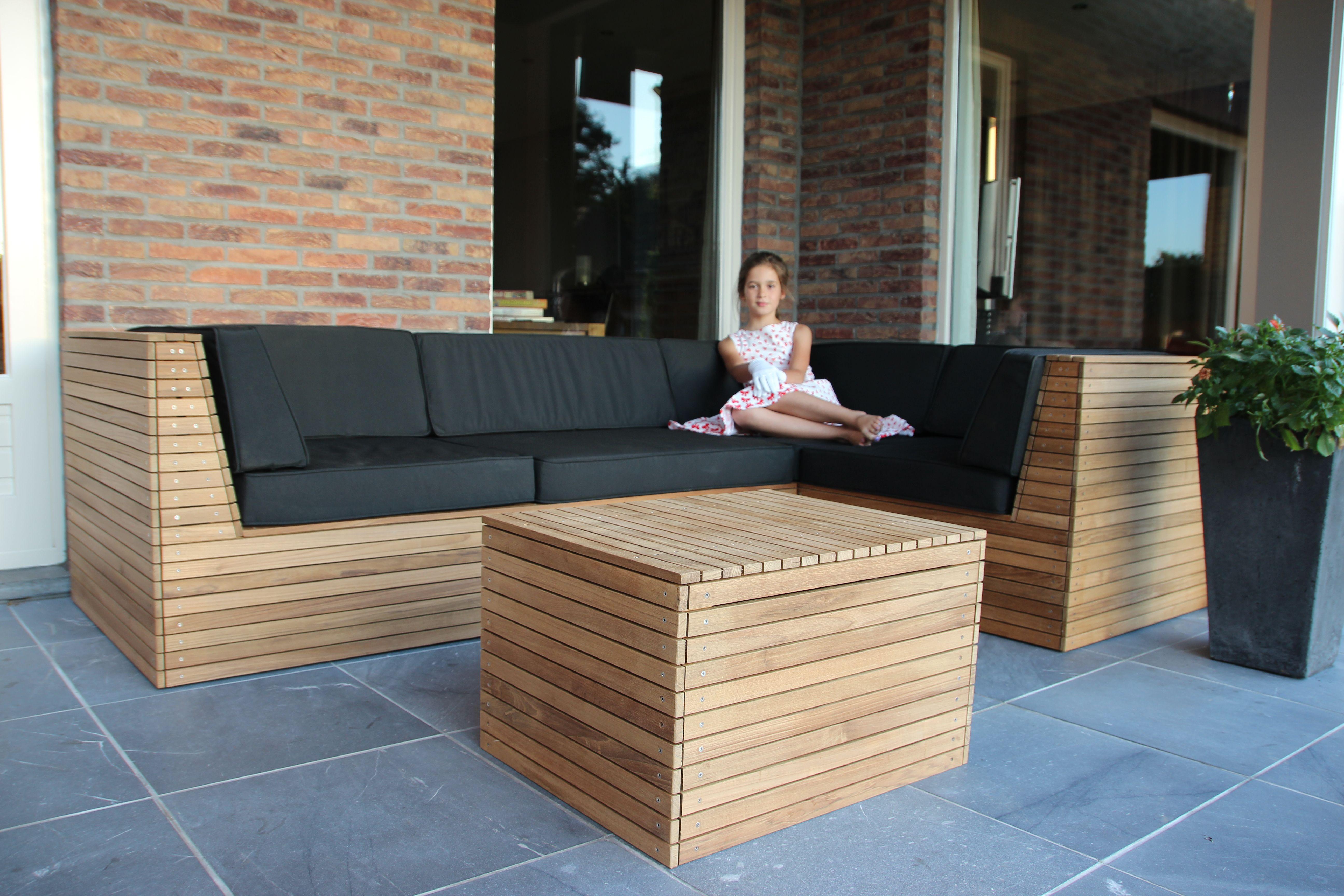 Teak loungeset diy | outside garden | Pinterest | Outdoor lounge ...
