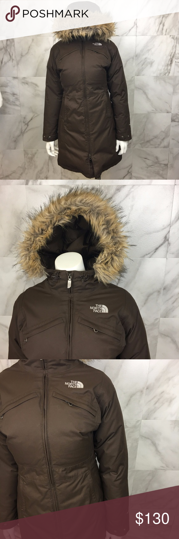 b2f30ef66017 The North Face Long Puffy Coat size S Acrylic faux fur hood liner parka  puffy winter