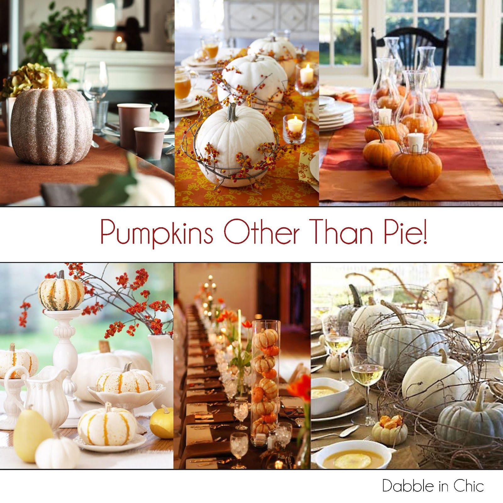 Pumpkin Thanksgiving Table Decor Dabble in Chic Focus