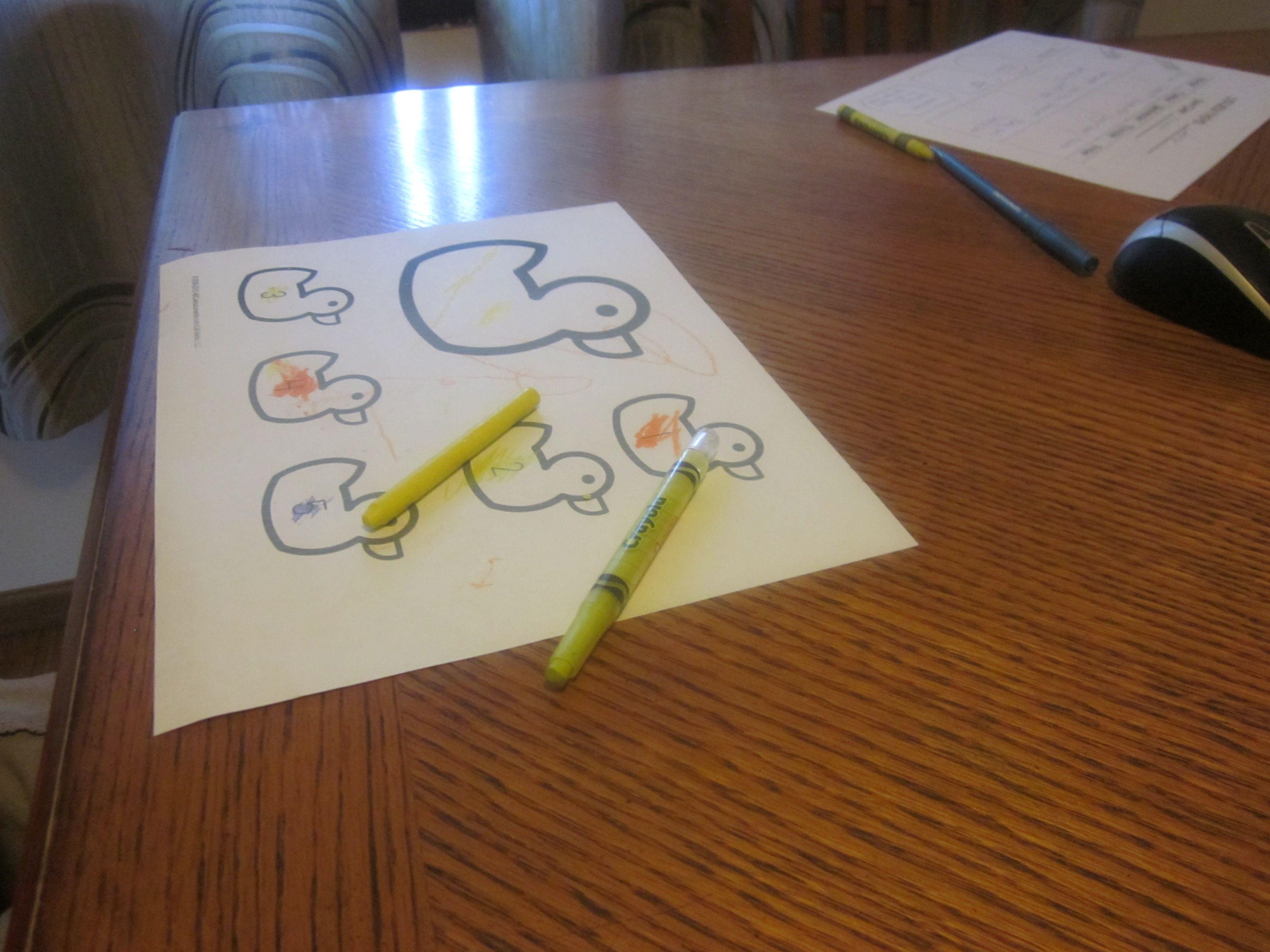 Five Little Ducks Preschool Counting