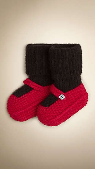 Knitted Cashmere Booties