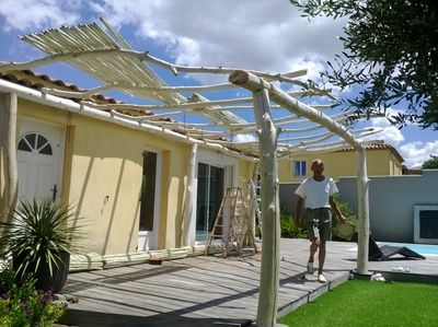 pergola en bois flott pergola en bois flott pinterest pergolas and backyard. Black Bedroom Furniture Sets. Home Design Ideas