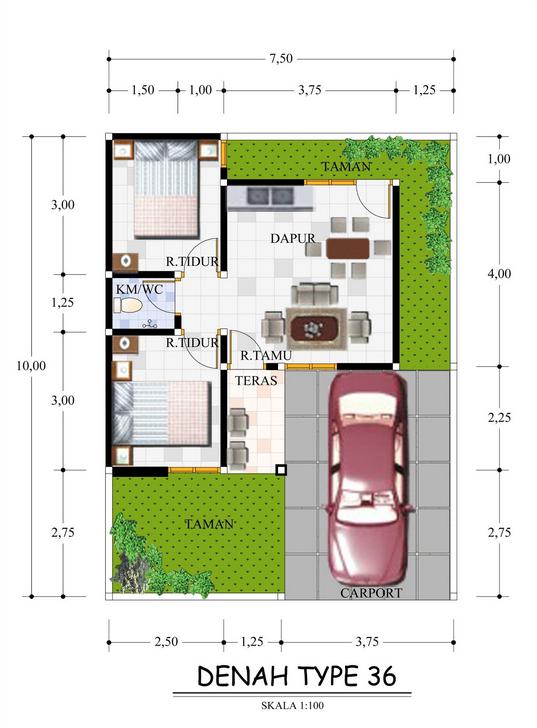 10 Ide Type 36x60 Rumah Minimalis Desain Rumah Desain Rumah Minimalis