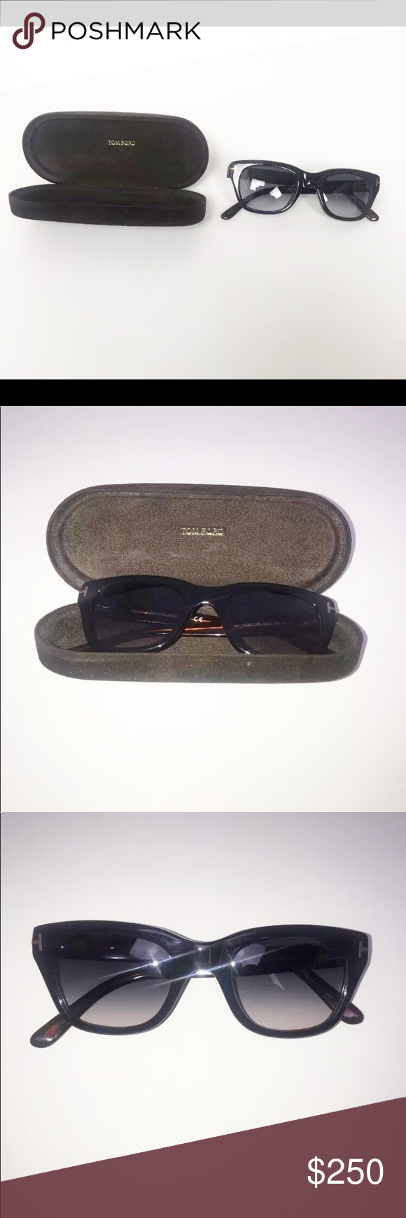 60ae0a382be8c Case included. Excellent Preowned Condition. AUTHENTIC! James Bond 007  SPECTRE TOM FORD Snowdon Black Sunglasses TF 237 05B Tom Ford Accessories  Sunglasses