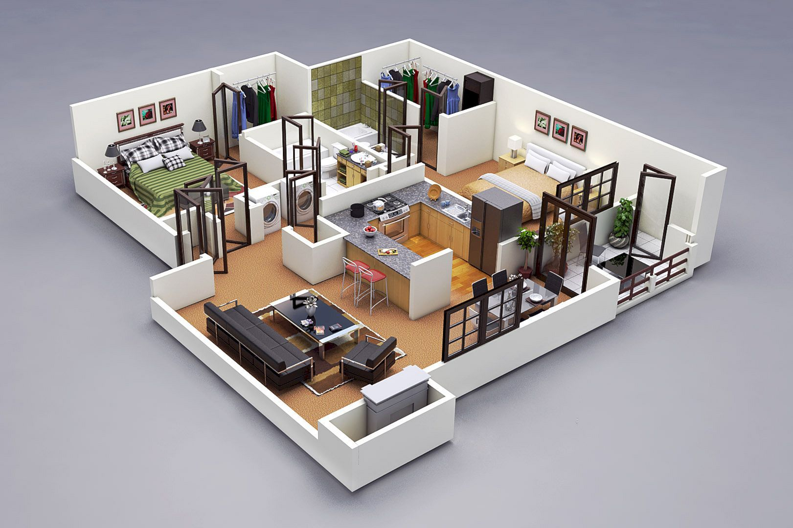 Why Do We Need 3d House Plan Before Starting The Project Apartment Floor Plans 3d House Plans Home Design Plans