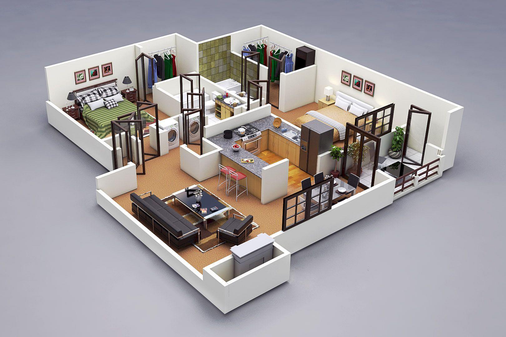 Well Designed 3D House Plan Design Ideas  Https://www.futuristarchitecture.com/23493 3d House Plan.html