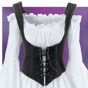 Black Twill Bodice - New Age & Spiritual Gifts at Pyramid Collection (yay Ren Faire!) #mamp;mcostumediy