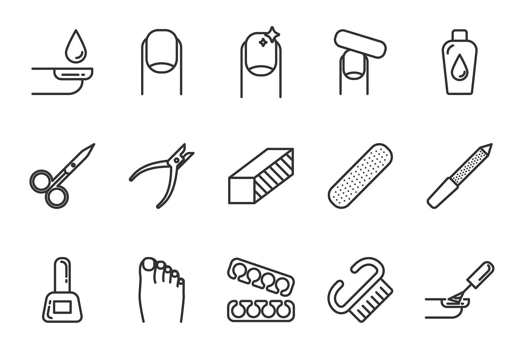 Nail service icons set Фоновые узоры, Значок instagram