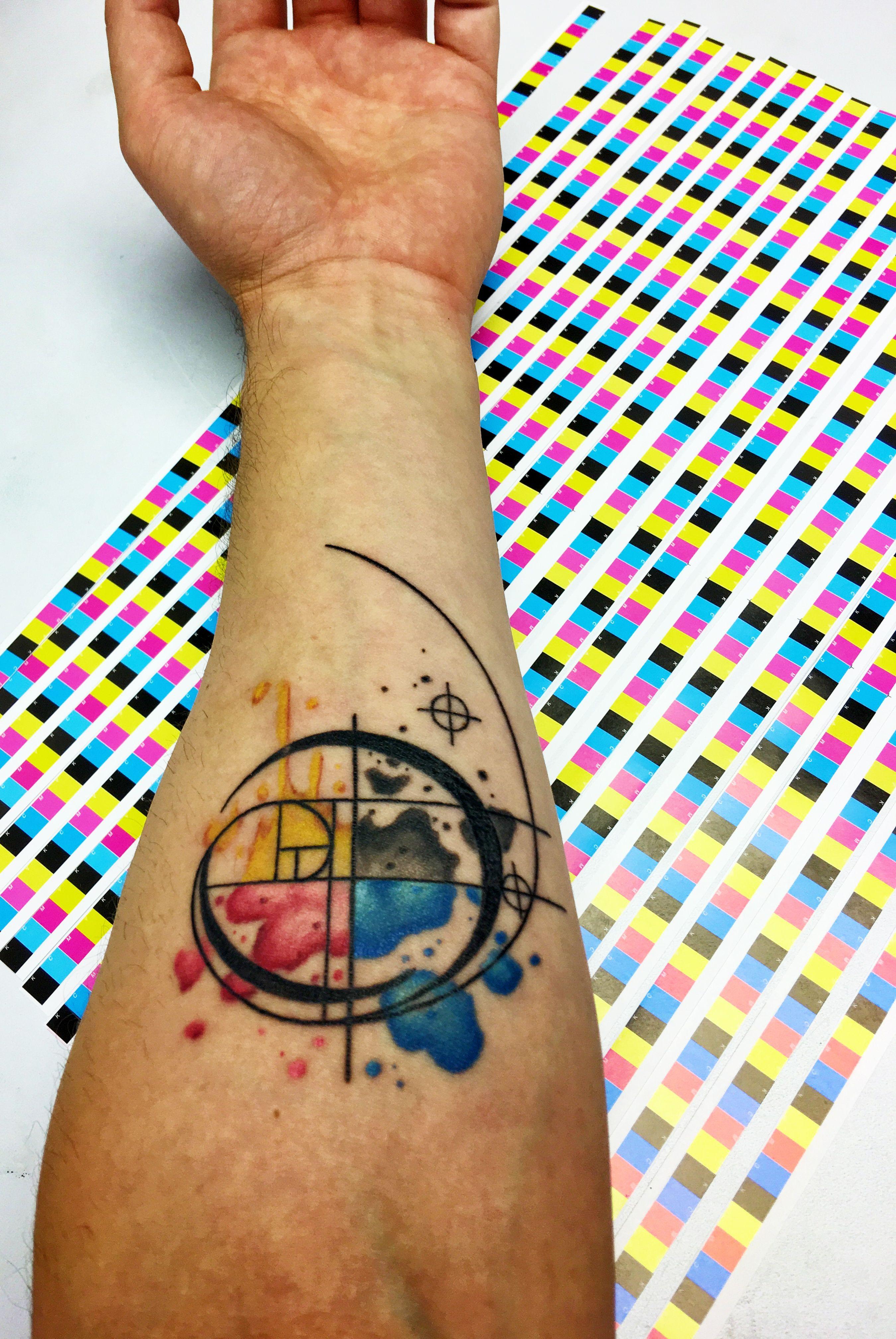 Cmyk tattoo tattoos geometric tattoo triangle tattoo