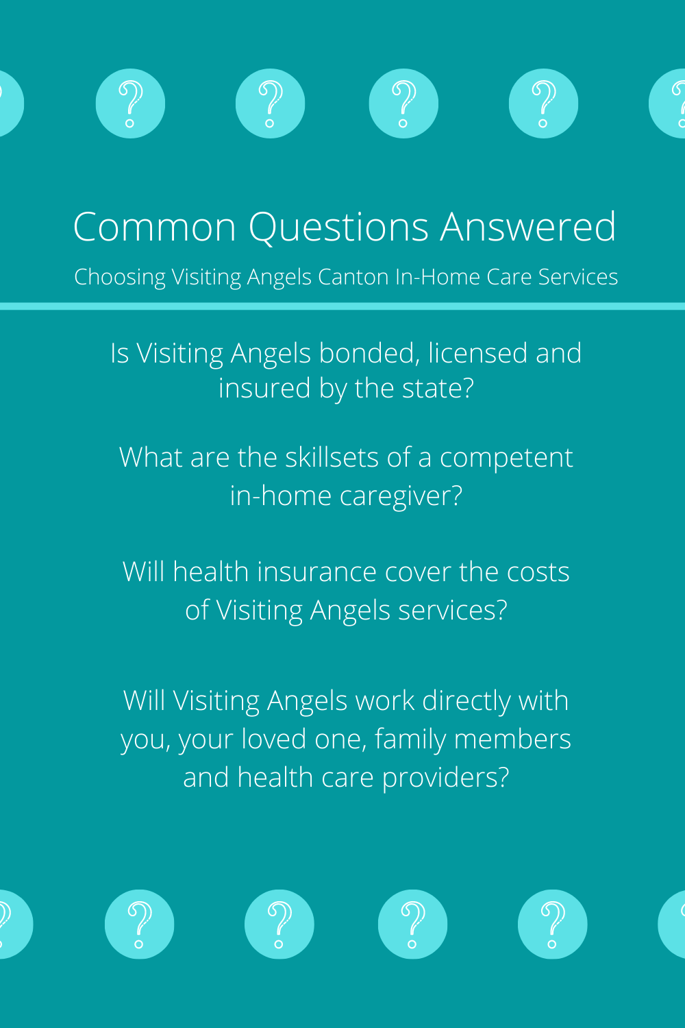 FAQ Visiting Angels Canton in 2020 Home care, This or