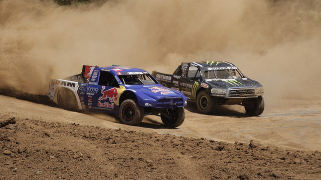 Crandon, WI Torc Racing 2012. TORC is the premier off-road short course truck racing series in North America. AMSOIL Dominator is used in high RPM, high temp racing and high-performance applications under severe conditions. RePin this photo. #TORC #Truck racing