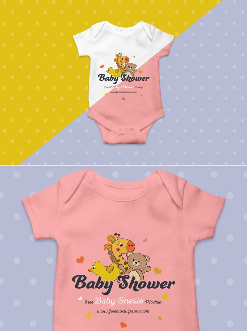 e16749a26 Free Baby Onesie PSD MockUp | Free Design Resources - commercial use ...