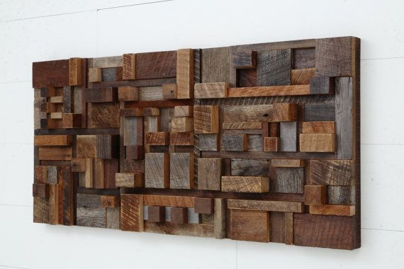 Wood Wall Art Of Geometric Shapes Etsy