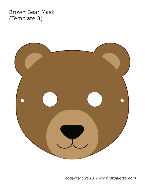 Magic image intended for printable bear mask