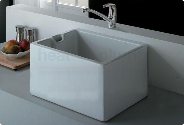RAK Gourmet Sink 11 - White Ceramic Belfast Style Super Deep ...