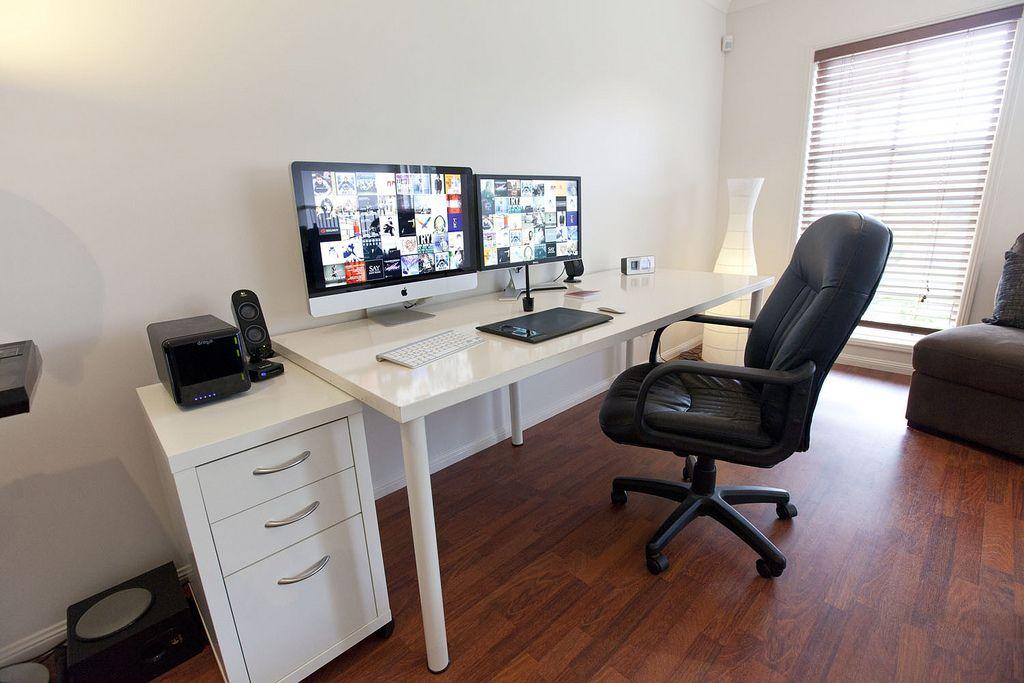 modern home office computer desk clean modern.  desk photographeru0027s clean and contemporary home office with imac setup  modern  kassett photography inside modern computer desk e