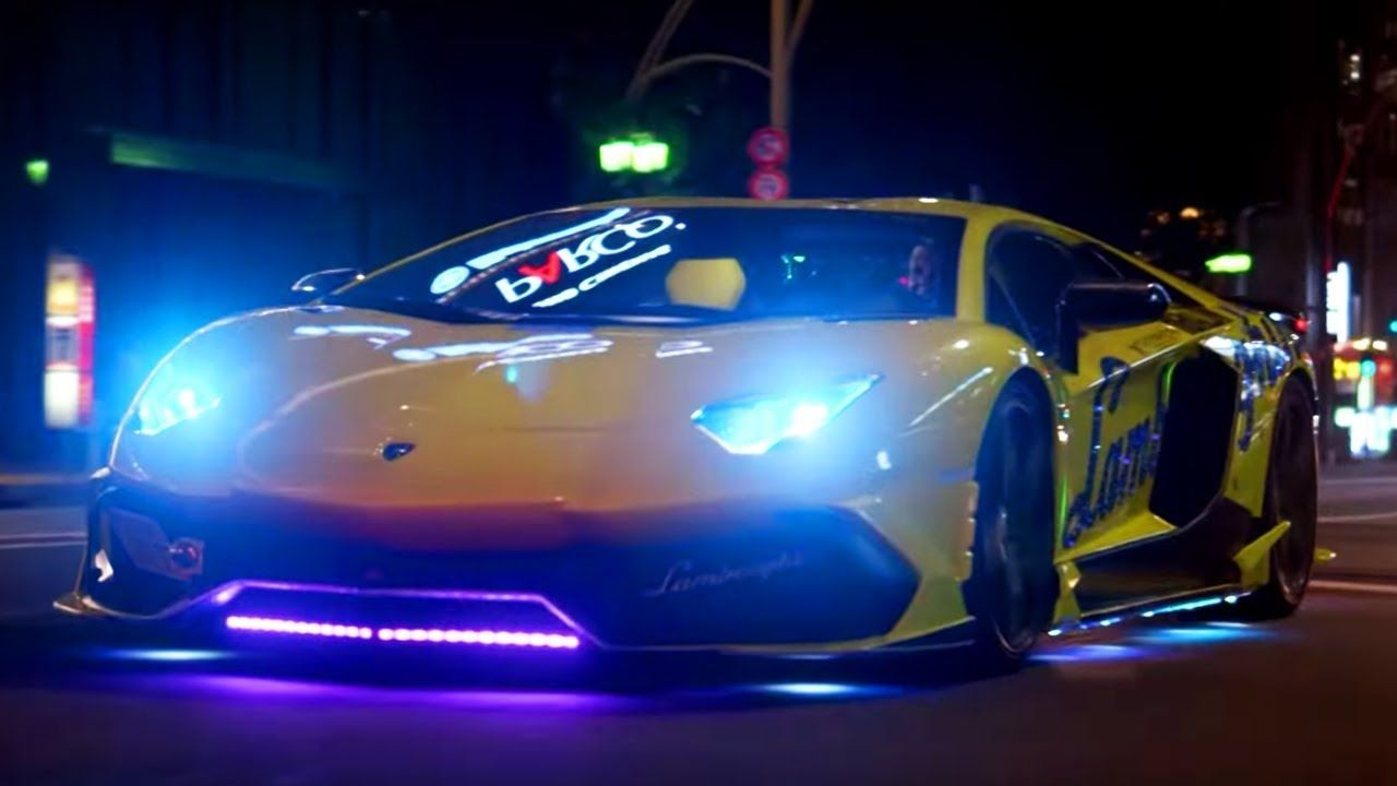 Neon Lamborghini Run In Japan Top Gear Series 25 Bbc Lamborghini Top Gear Japan