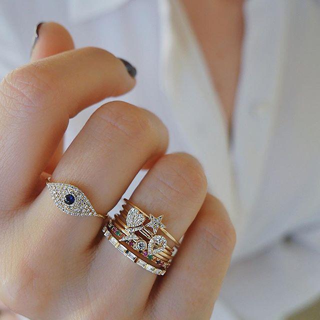 c7783c0bf Loving the new EF Collcetion jumbo evil eye ring. 🌈⭐ 💎⚡ 💗Xo, EF  #efcollection #jumboevileyering #showmeyourrings #stackemup