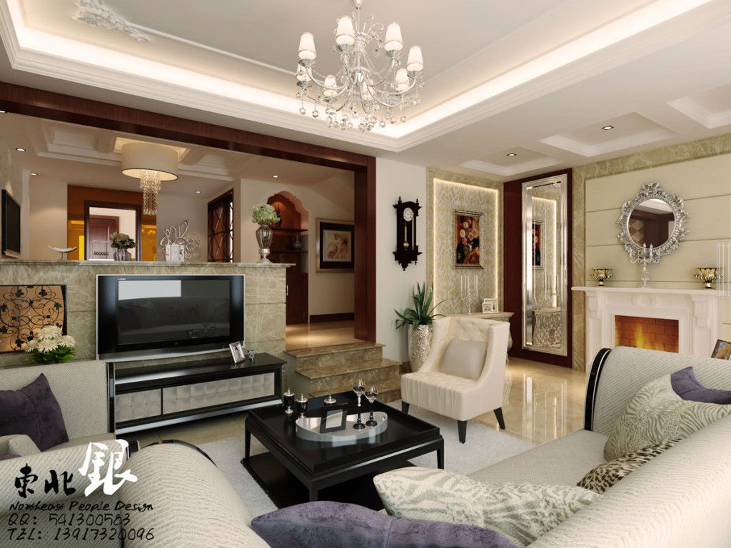 Modern Korean Oriental Style Interior Living Room Design Ideas in Neutral  White and Brown Color Scheme