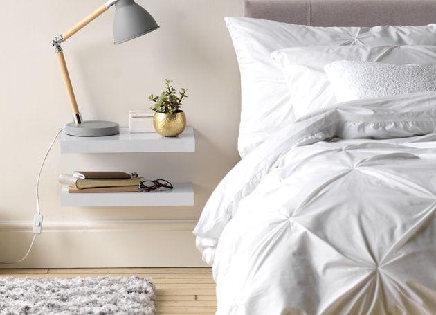 Floating Shelves Bedside Table Idea