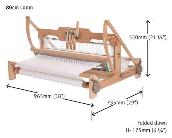 Ashford Table Loom 4 Schaft Webstuhl 80cm Webbreite