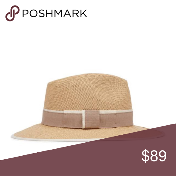 137ff6addeafe2 REISS Trevill Christys Trilby Hat This chic trilby hat is this summer's  timeless style. Woven in a natural hue, featuring a contrasting white trim  and ...