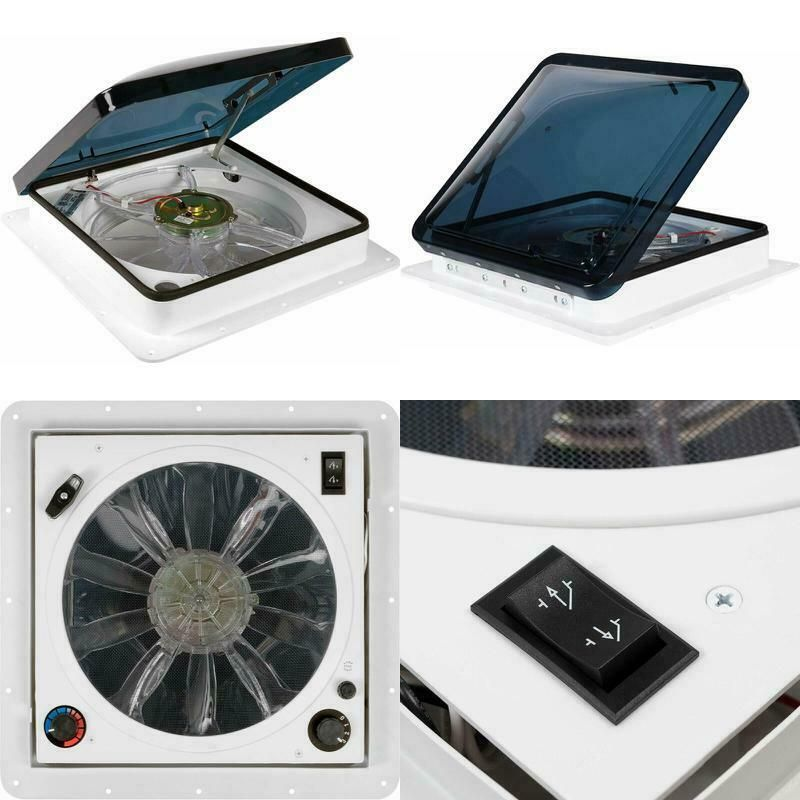 Sponsored Ebay Fan Tastic Vent Rv Roof Vent With Thermostat Manual And Automatic Speed 12 Volt Roof Vents Thermostat Ebay