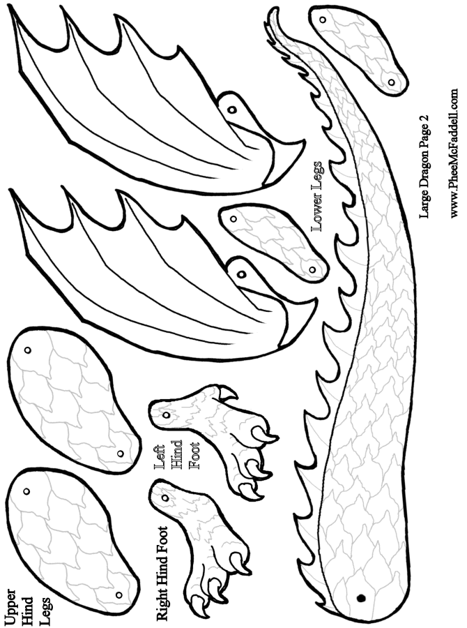 Large Dragon Puppet Page 2 via www.pheemcfaddell.com