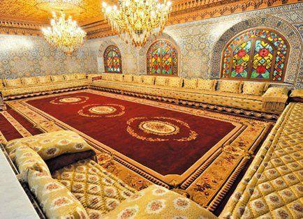 Salon Marocain Traditionnel (Rouge et Jaune)   interiors and ...