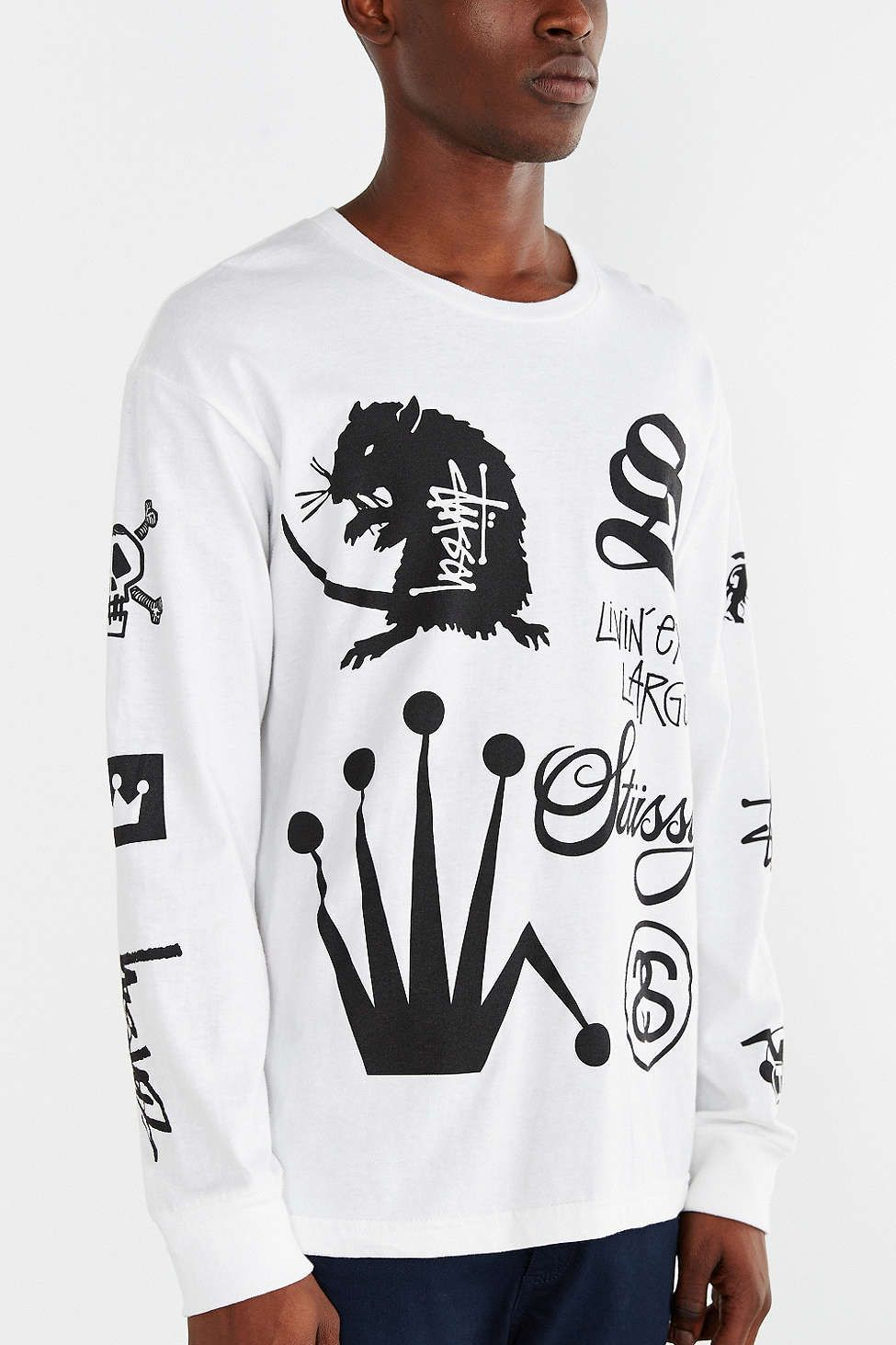 Stussy Crown Collage Long-Sleeve Tee