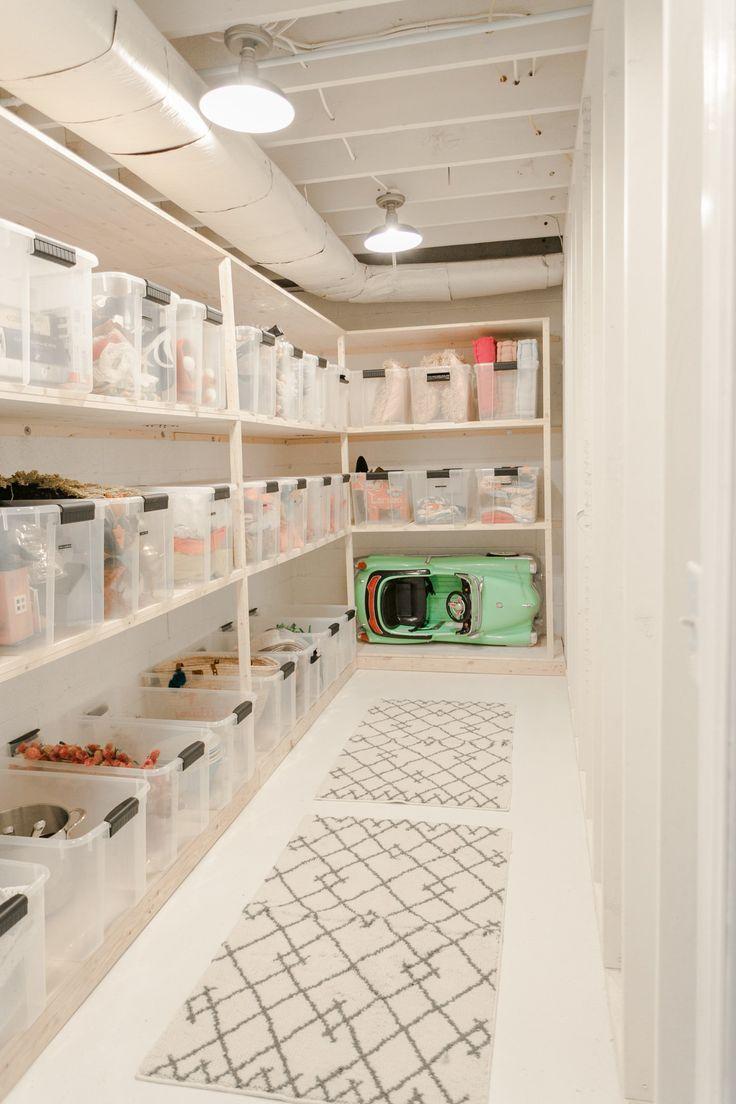 Elsie S Storage Room Makeover Kitchen Design Basement