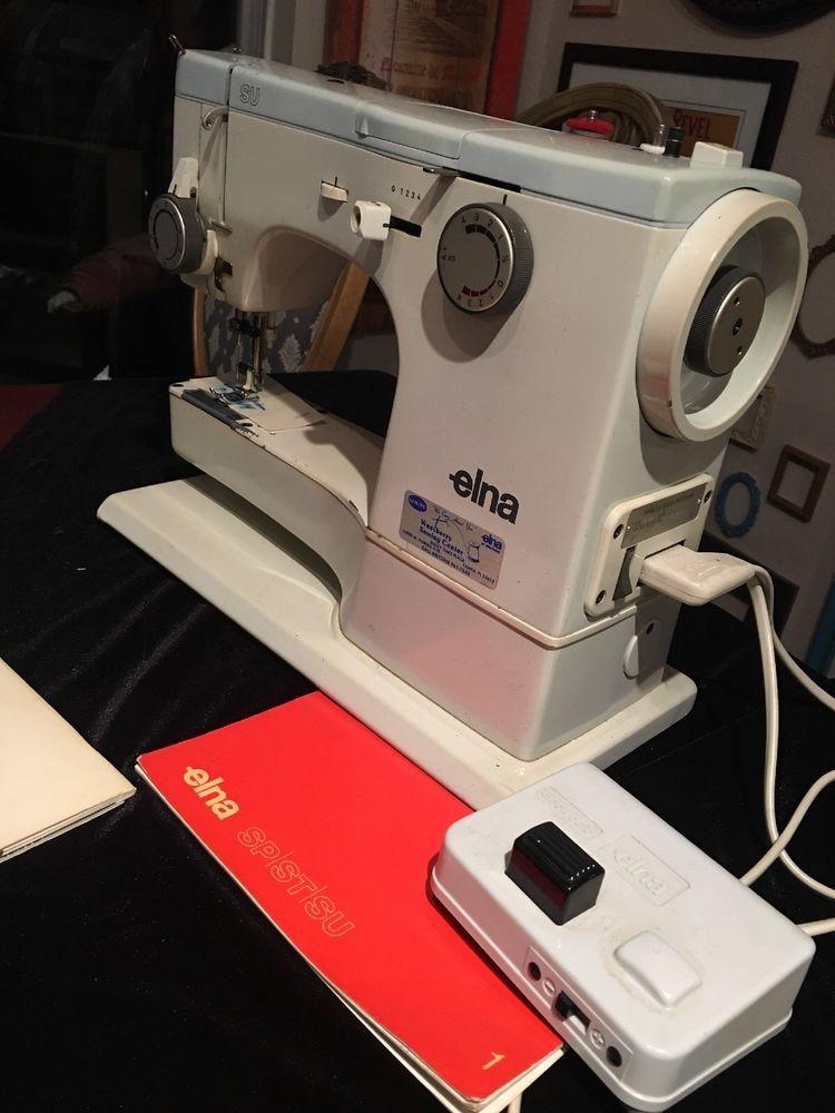 Elna SU Sewing Machine Switzerland With Pedal Power Cord Metal Case Mesmerizing Elna Su Sewing Machine