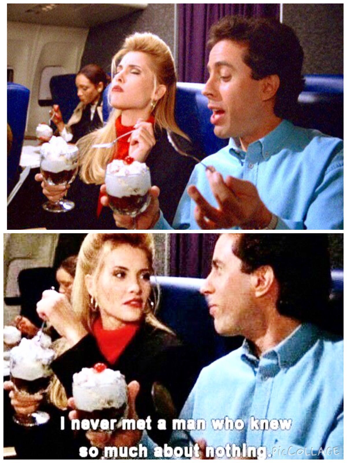 The Airport) - JERRY and TIA: Mmmmmmmm! TIA: This is the best sundae ...