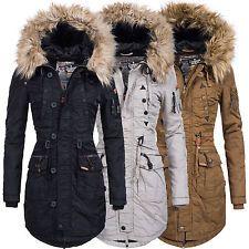 Khujo Damen Wintermantel Winterjacke Winter Mantel Jacke Parka Kapuze Claire
