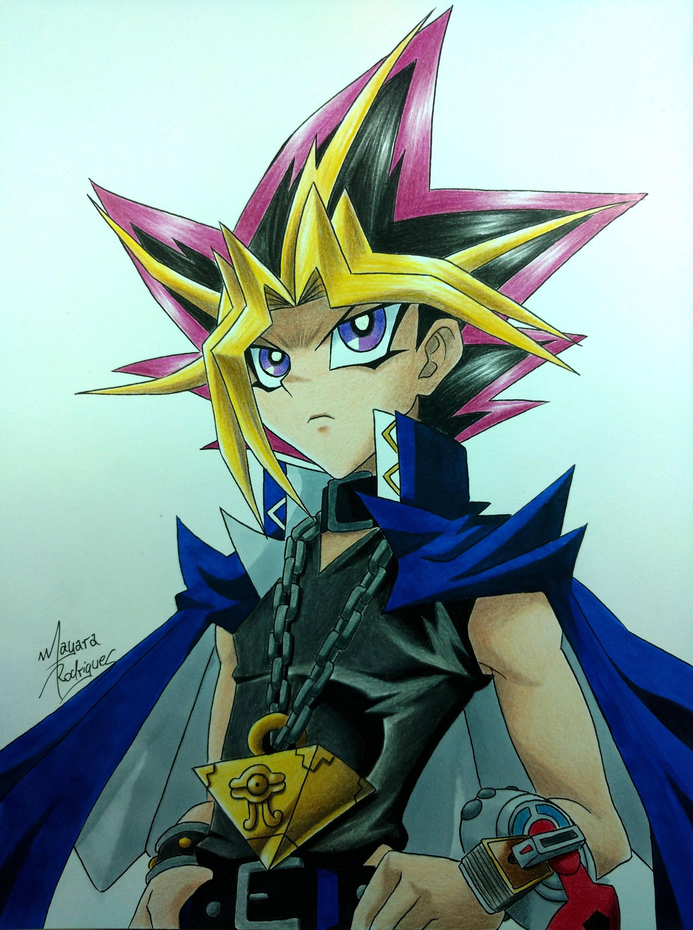 Yami Yugi (YU-GI-OH!) by Mayara Rodrigues  link for more arts anime Mayara Rodrigues:: https://www.facebook.com/mayararodriguesdrawings channel on  Youtube: https://www.youtube.com/channel/UC2Ut6zaH-dENocDPTaAd5-A