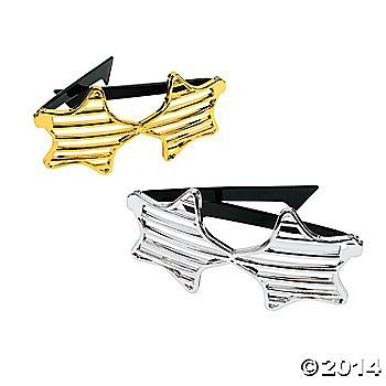 Gold And Silver Star-Shaped Shutter Shading Glasses