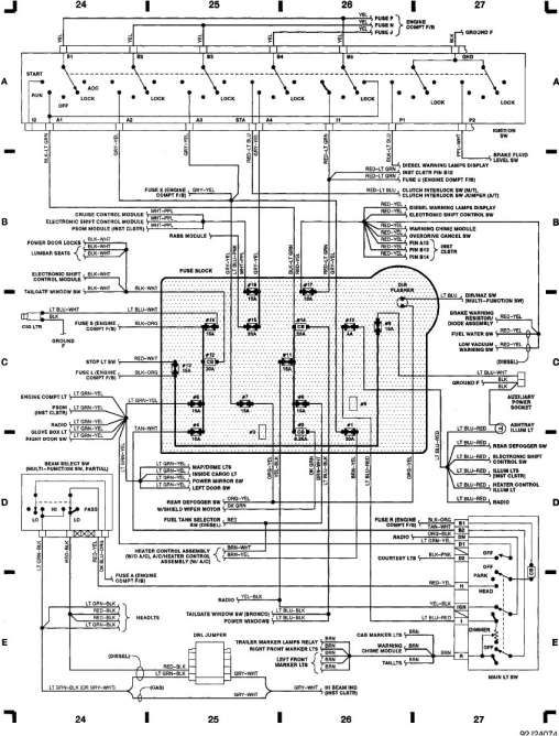 10  1993 Ford F250 Diesel Engine Performance Wiring
