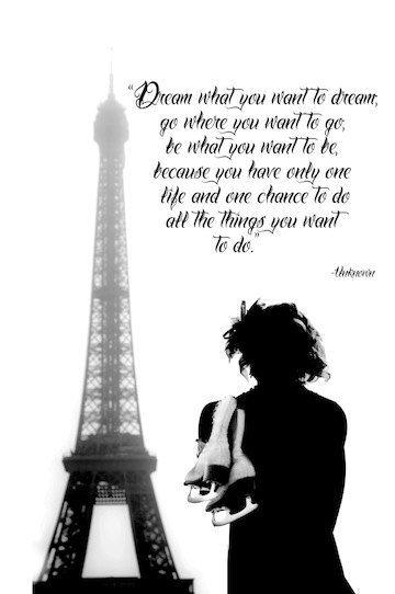 PARIS FRANCE SKATING Eiffel Tower Figure Skating Ice Skating Dream Quote Print. $18.00, via Etsy.