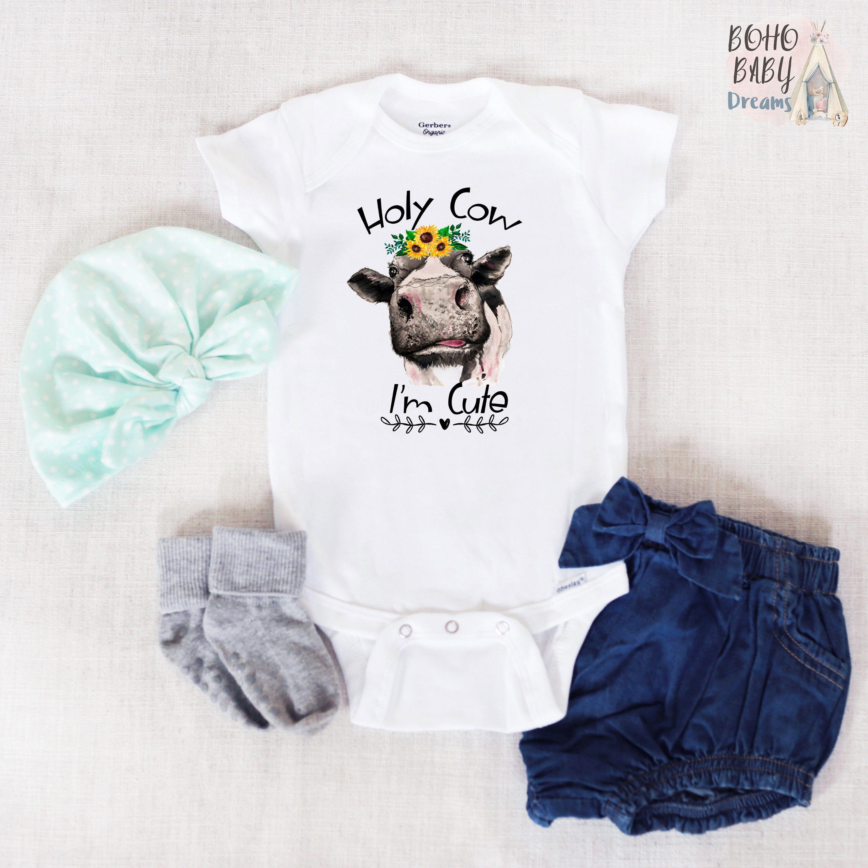 Holy Cow Im Cute Onesie/® Baby Bodysuit
