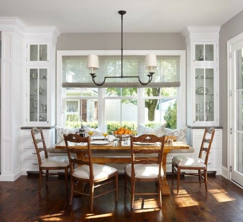 Eat In Kitchen With Built Ins Dining AreaDining