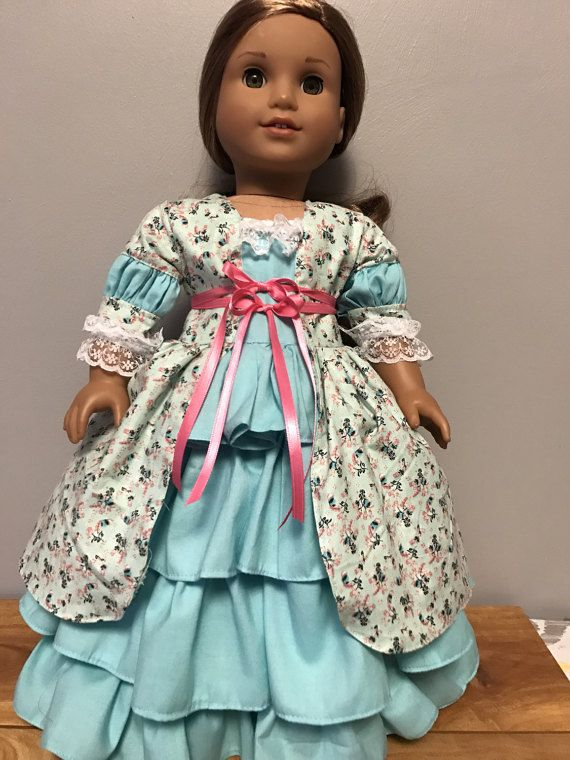historical Dress for 18 inch dolls Perfect for Caroline