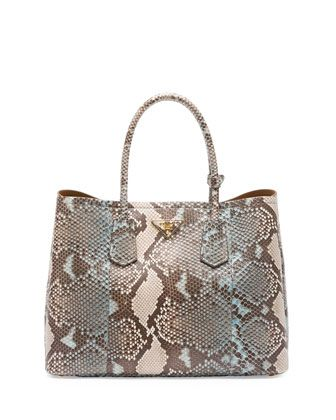 a691527354f2 ... low price python double bag blue multi lago by prada at neiman marcus.  30bfd 40f43