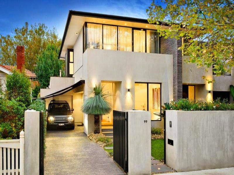 Casas minimalistas de dos plantas con balcon buscar con for Plantas casas minimalistas