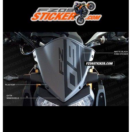 Custom sticker emblem for the yamaha fz 09 gytr windshield cowl custom cut to