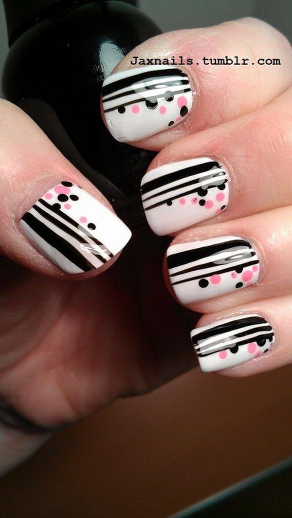 Cute Polka Dot Nail Designs, http://hative.com/cute-polka ...