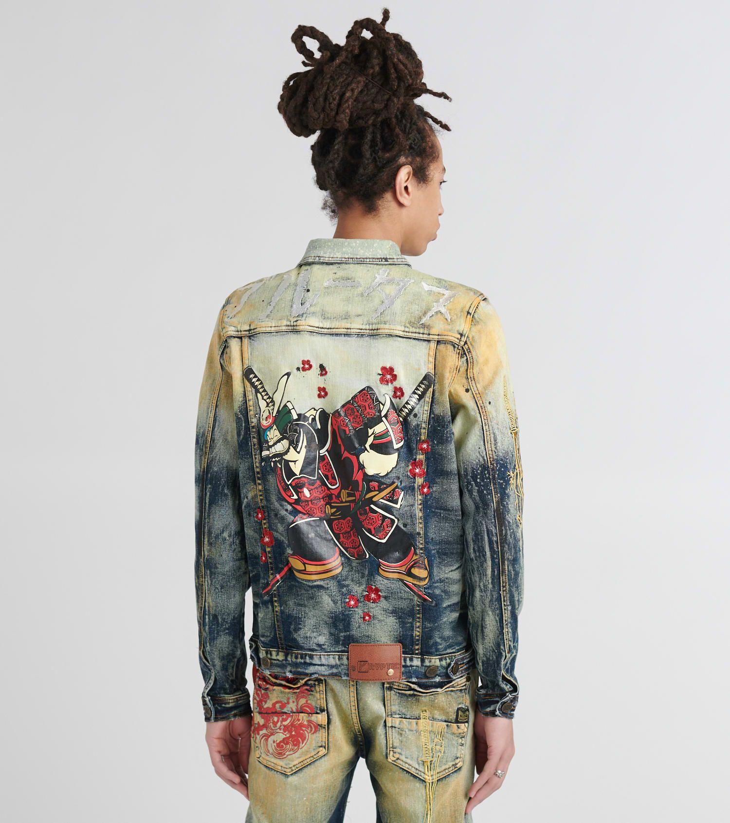 Denim Jacket With Paint Splatter Jackets Denim Jacket Denim [ 1690 x 1500 Pixel ]