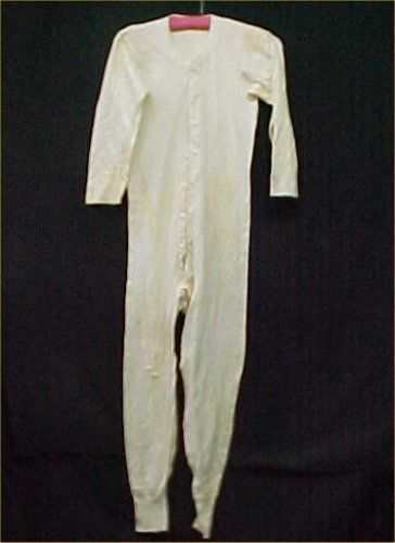 Vintage Antique Long Johns Pants One Piece Insulated